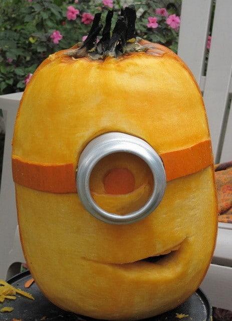 Pumpkin Carving Ideas Minion